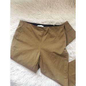 EVERLANE tan side zip work high waisted pant